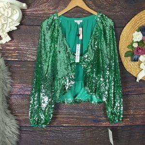 NWT For love & lemons Victorias Secret sequin top